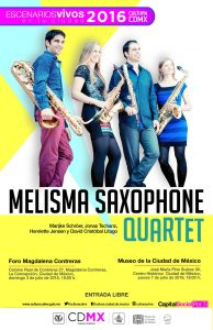 Melisma Saxophone Quartet in Mexico
