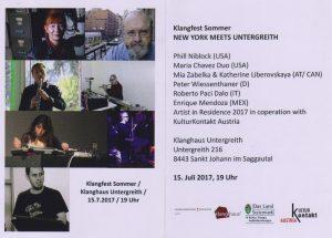 Klangfest Untergreith Enrique Mendoza